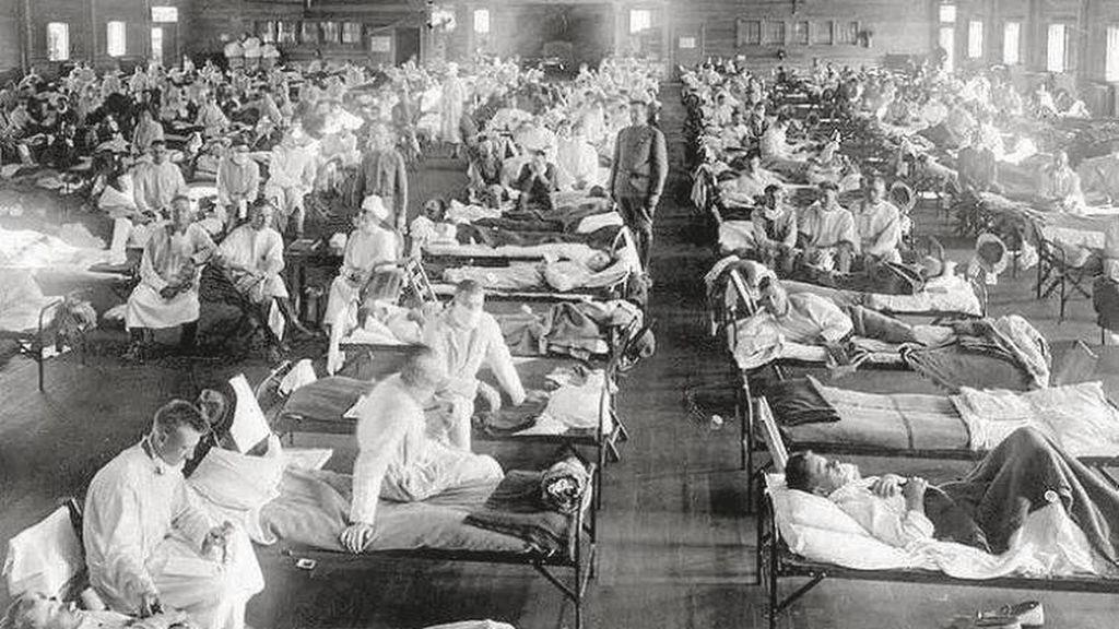 Imagen durante la epidemia de gripe española